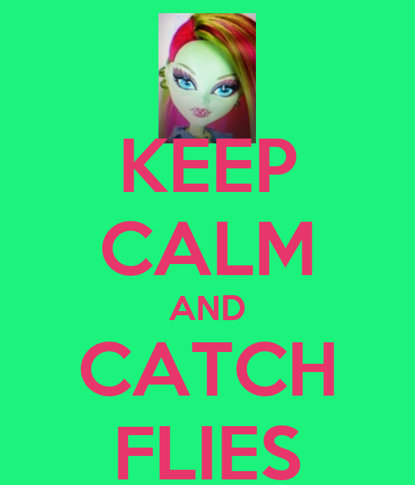KEEP CALM AND CATCH FLIES