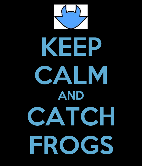 KEEP CALM AND CATCH FROGS