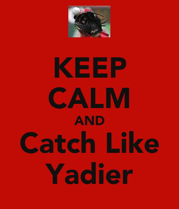 KEEP CALM AND Catch Like Yadier