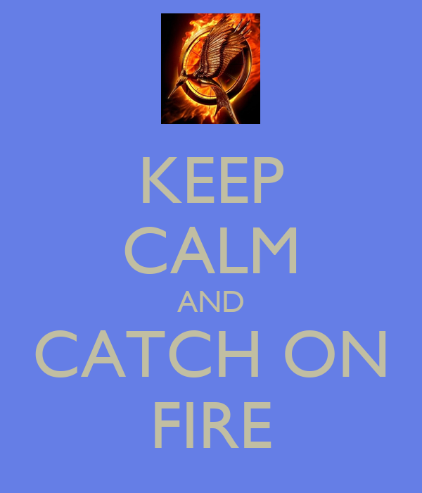 KEEP CALM AND CATCH ON FIRE