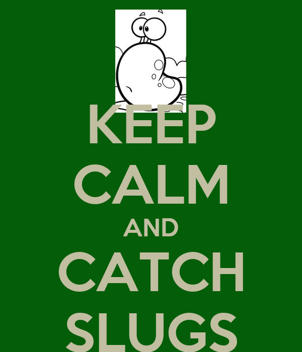 KEEP CALM AND CATCH SLUGS