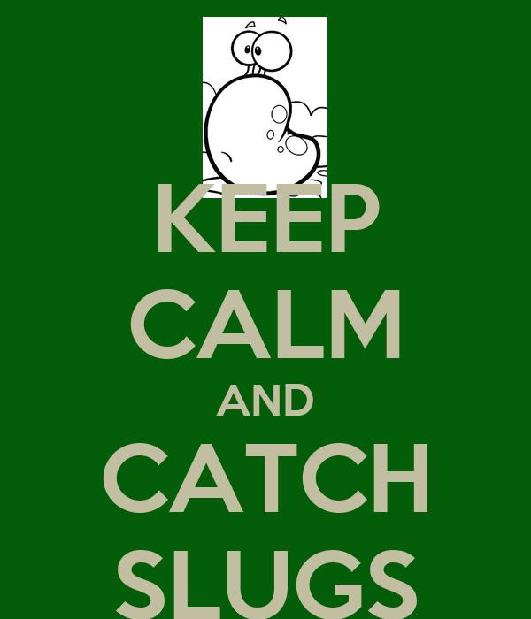 KEEP CALM AND CATCH SLUGS