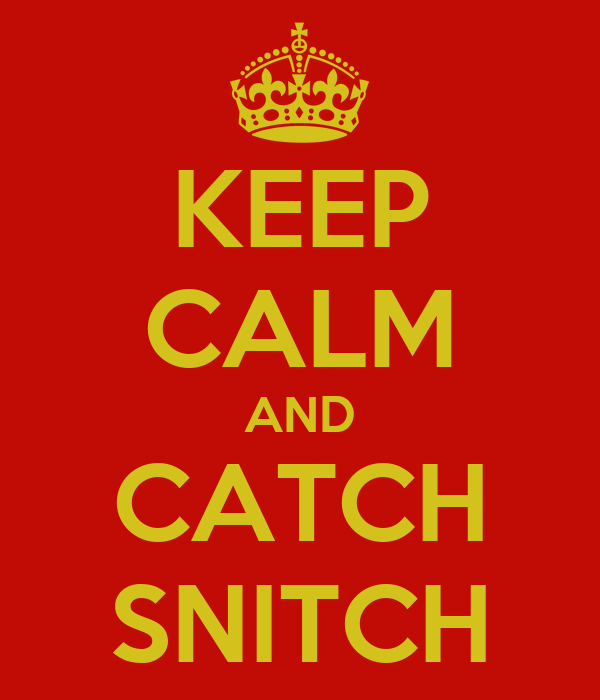 KEEP CALM AND CATCH SNITCH