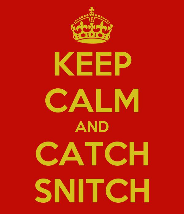 KEEP CALM AND CATCH SNITCH