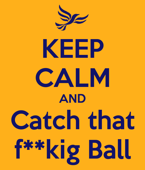 KEEP CALM AND Catch that f**kig Ball