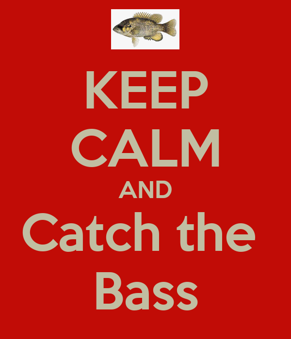 KEEP CALM AND Catch the  Bass