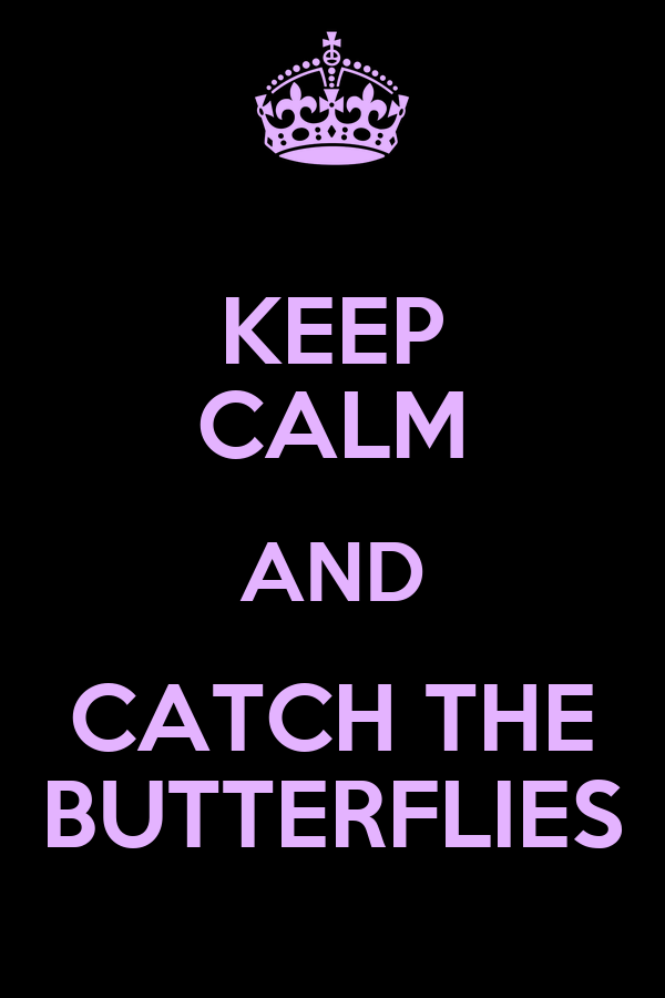 KEEP CALM AND CATCH THE BUTTERFLIES