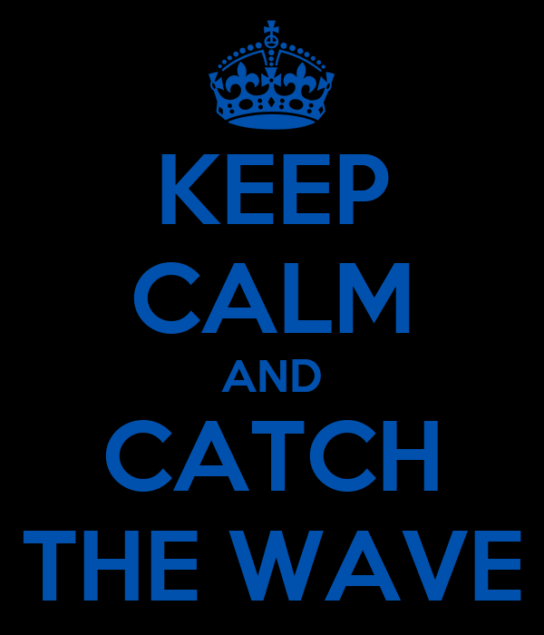 KEEP CALM AND CATCH THE WAVE