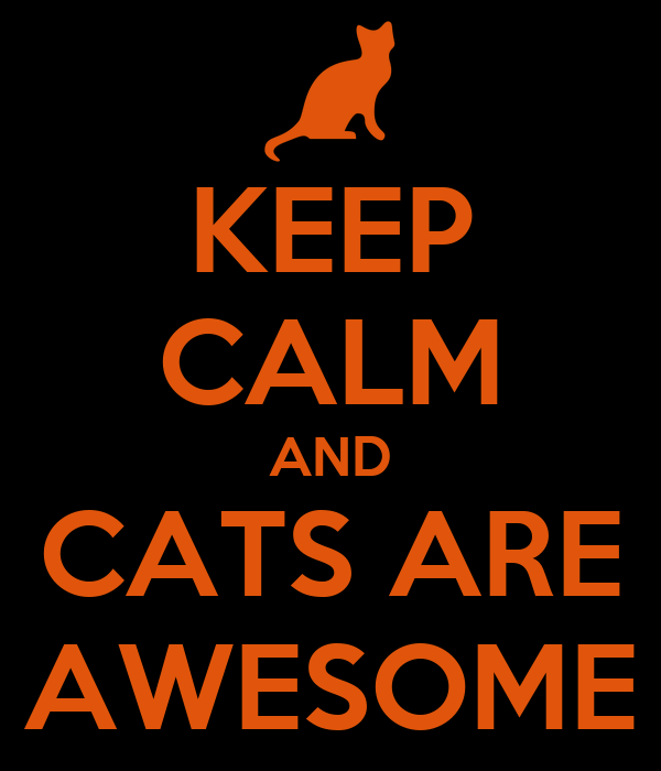 KEEP CALM AND CATS ARE AWESOME