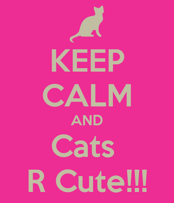 KEEP CALM AND Cats  R Cute!!!