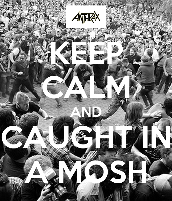 KEEP CALM AND CAUGHT IN A MOSH