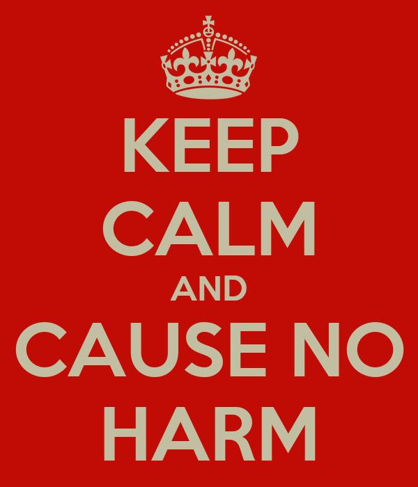 KEEP CALM AND CAUSE NO HARM