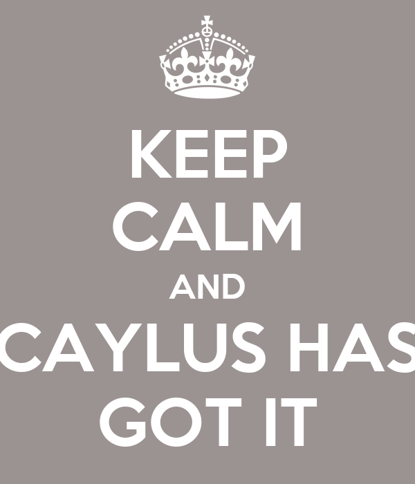 KEEP CALM AND CAYLUS HAS GOT IT