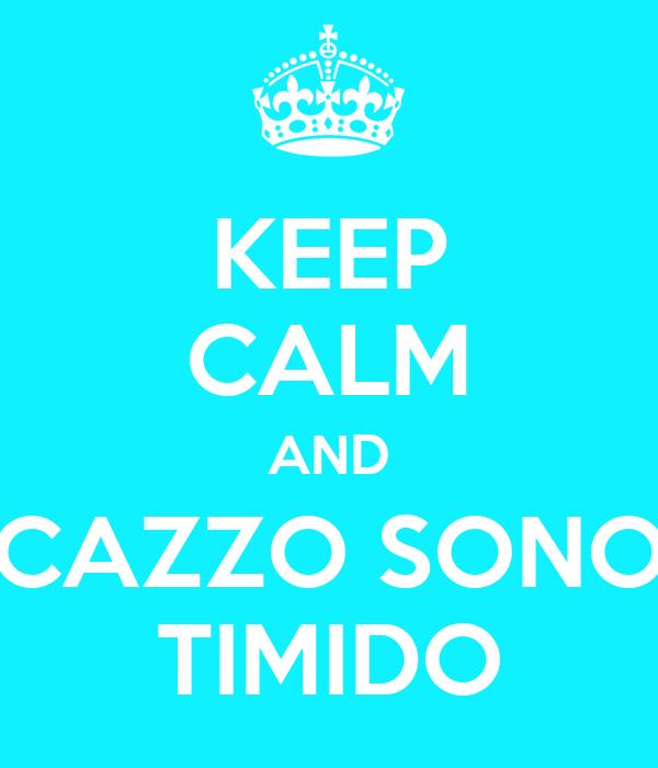 KEEP CALM AND CAZZO SONO TIMIDO
