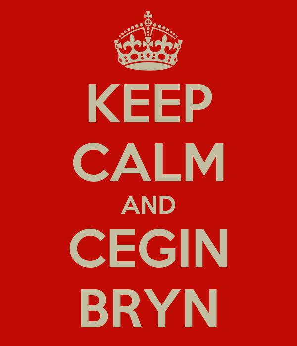 KEEP CALM AND CEGIN BRYN