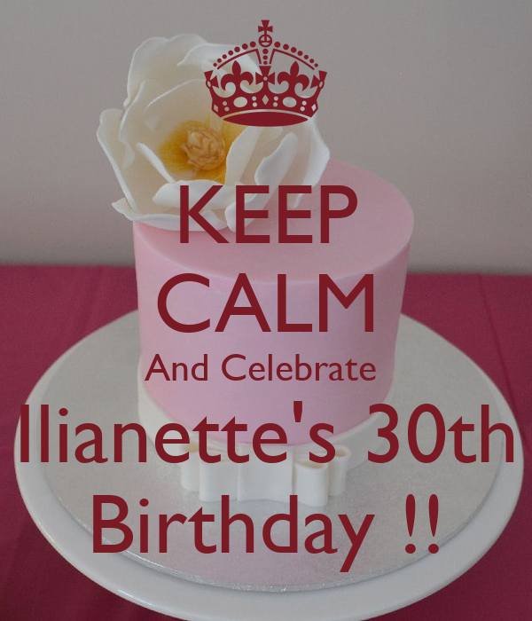 KEEP CALM And Celebrate  Ilianette's 30th  Birthday !!