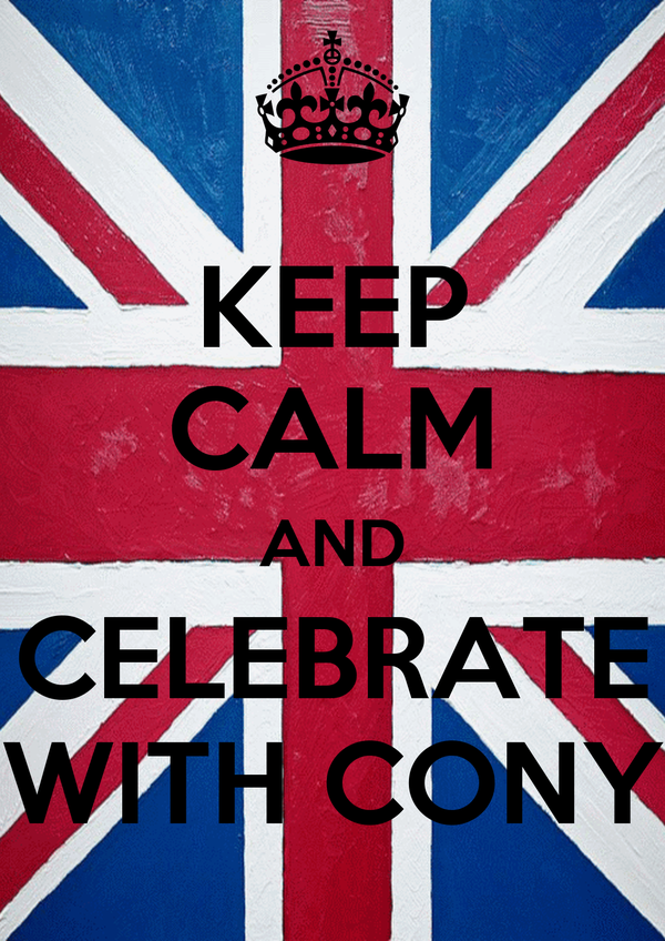 KEEP CALM AND CELEBRATE WITH CONY
