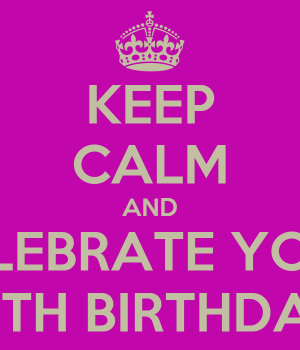 KEEP CALM AND CELEBRATE YOUR 29TH BIRTHDAY!