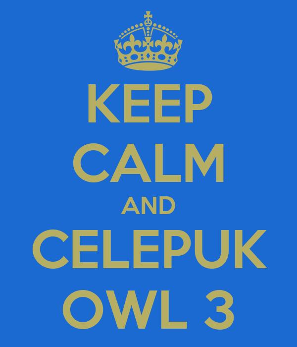 KEEP CALM AND CELEPUK OWL 3