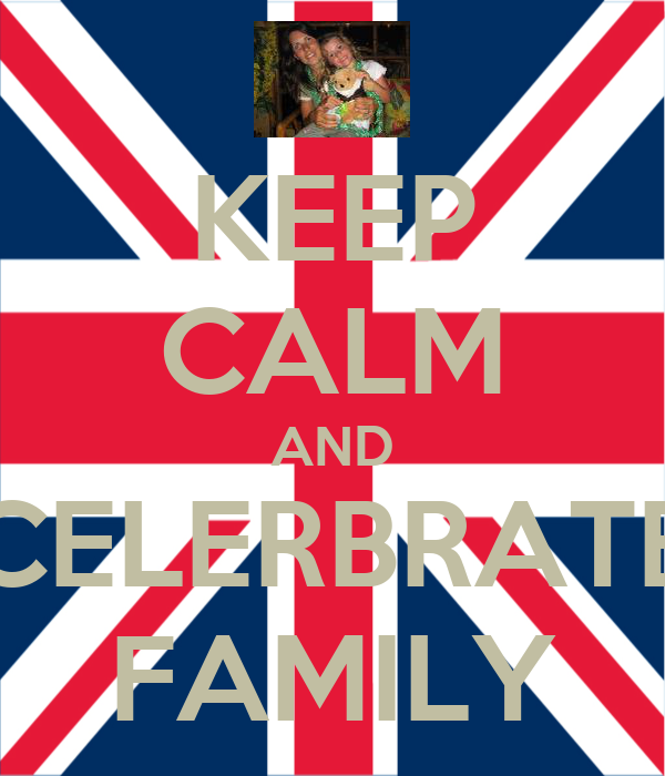 KEEP CALM AND CELERBRATE FAMILY