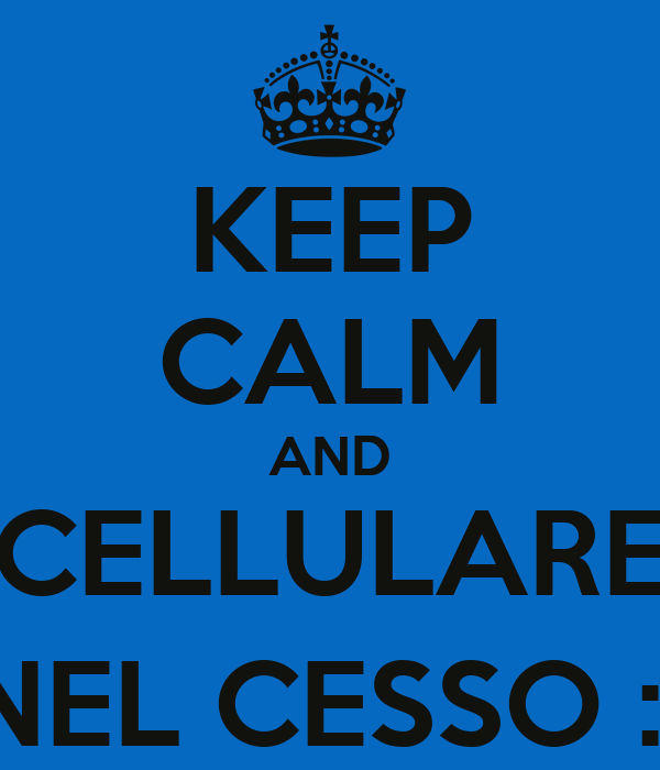 KEEP CALM AND CELLULARE NEL CESSO :)