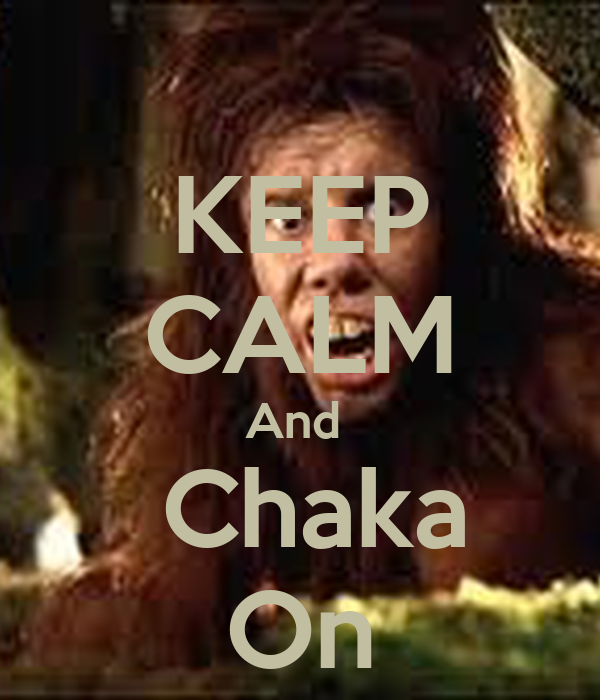 KEEP CALM And   Chaka On
