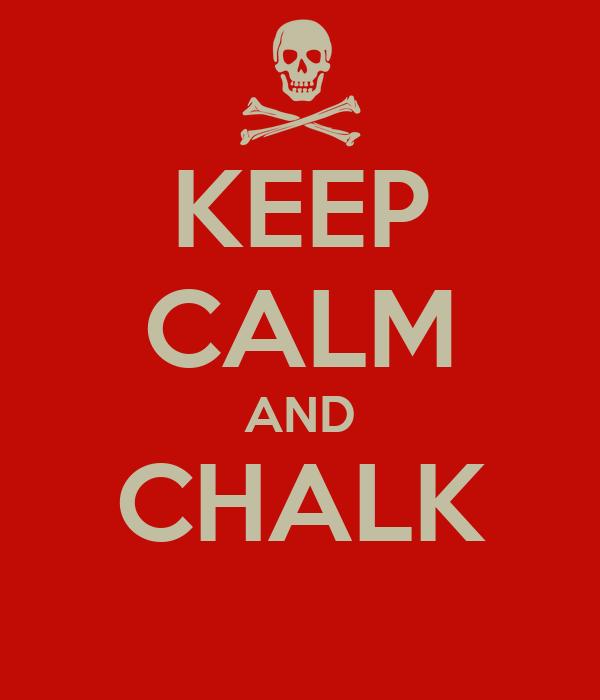 KEEP CALM AND CHALK