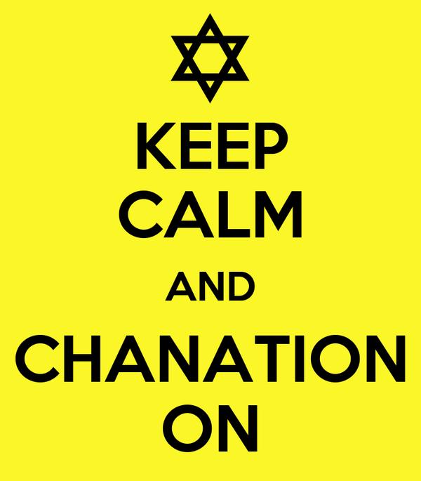 KEEP CALM AND CHANATION ON