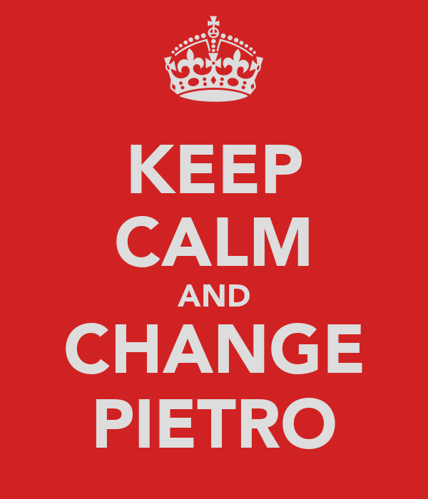 KEEP CALM AND CHANGE PIETRO