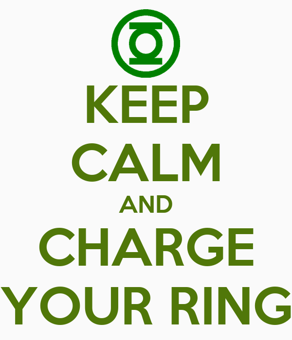 KEEP CALM AND CHARGE YOUR RING