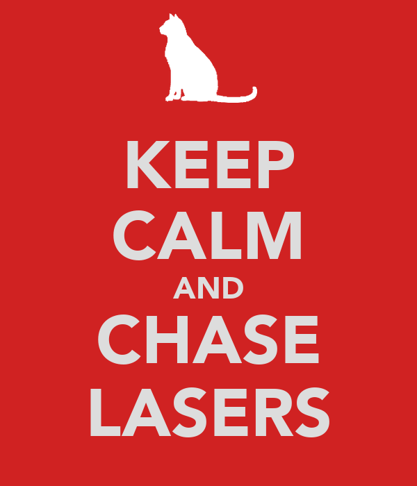 KEEP CALM AND CHASE LASERS