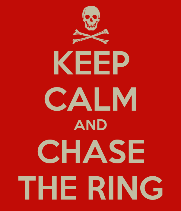KEEP CALM AND CHASE THE RING