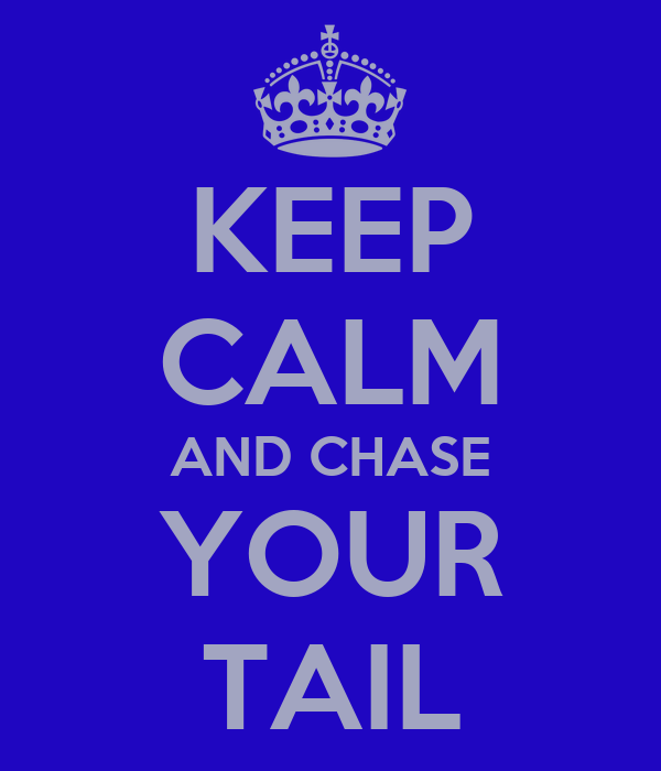 KEEP CALM AND CHASE YOUR TAIL