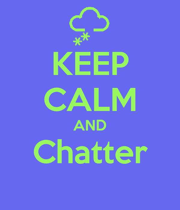 KEEP CALM AND Chatter