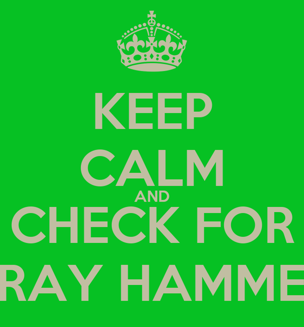 KEEP CALM AND CHECK FOR STRAY HAMMERS