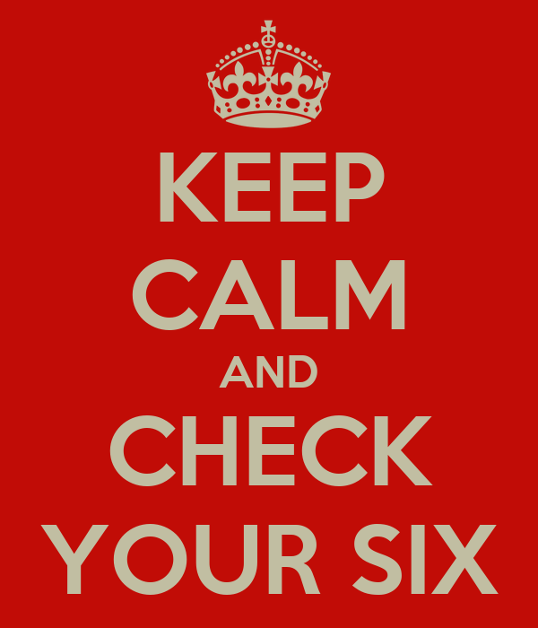 KEEP CALM AND CHECK YOUR SIX