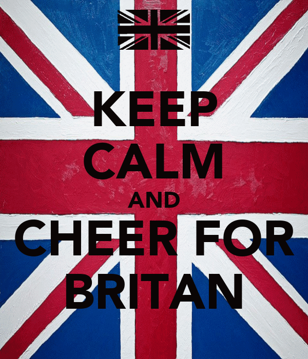 KEEP CALM AND CHEER FOR BRITAN