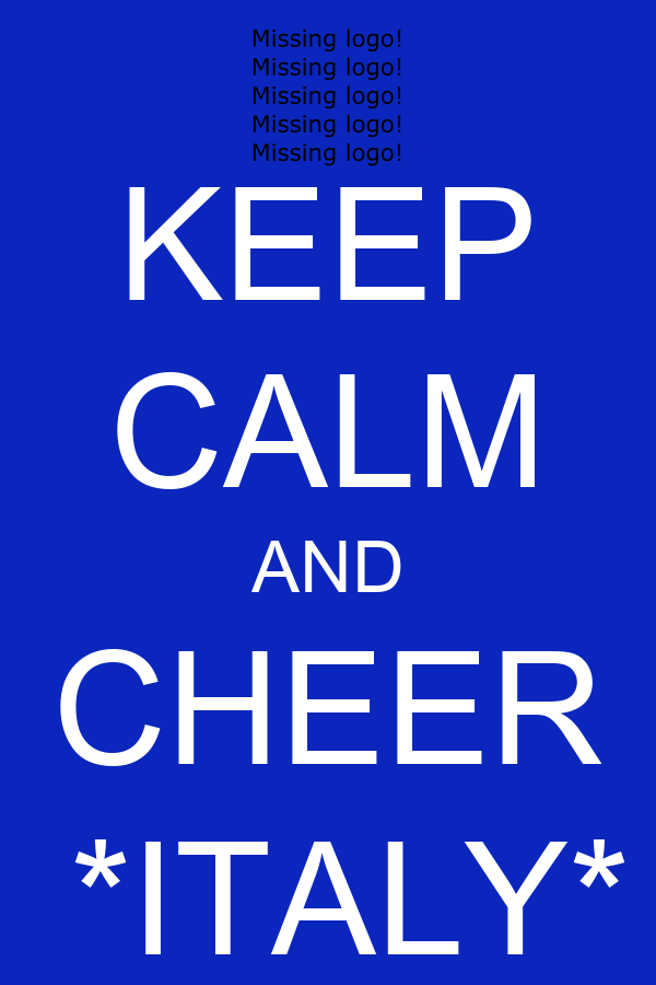 KEEP CALM AND CHEER   *ITALY*