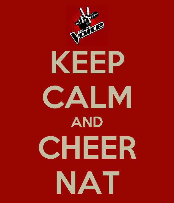 KEEP CALM AND CHEER NAT