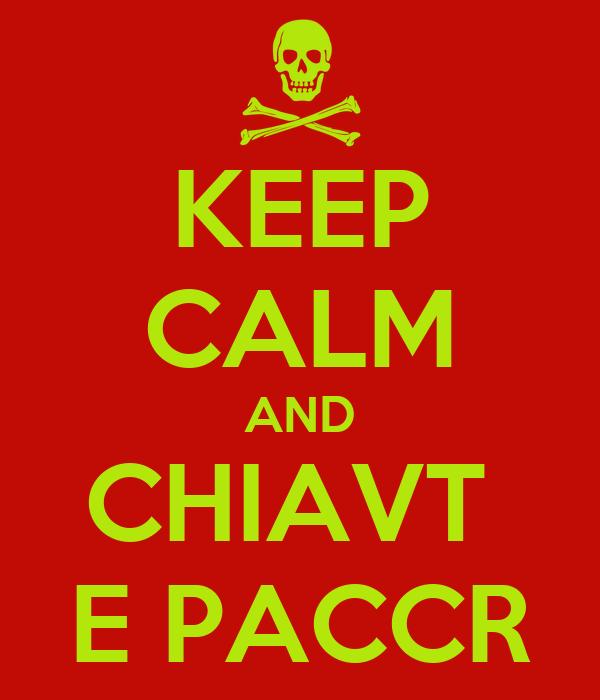 KEEP CALM AND CHIAVT  E PACCR