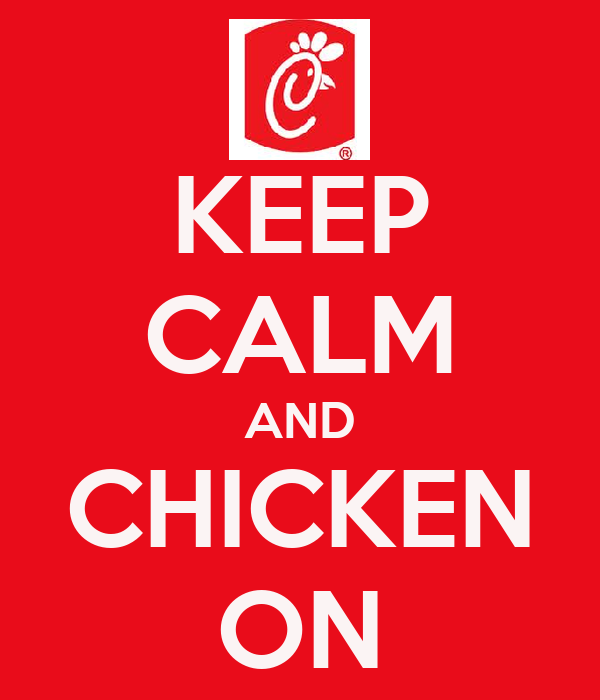 KEEP CALM AND CHICKEN ON