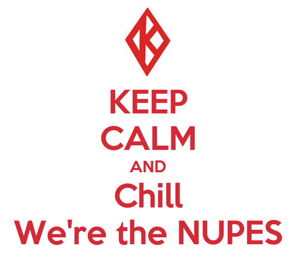 KEEP CALM AND Chill We're the NUPES