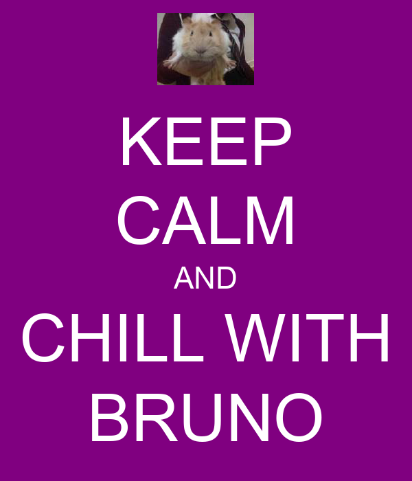 KEEP CALM AND CHILL WITH BRUNO
