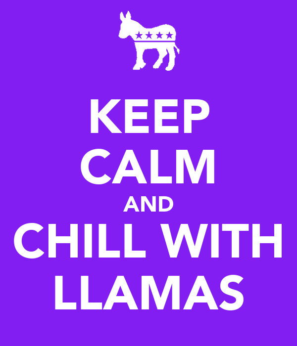 KEEP CALM AND CHILL WITH LLAMAS