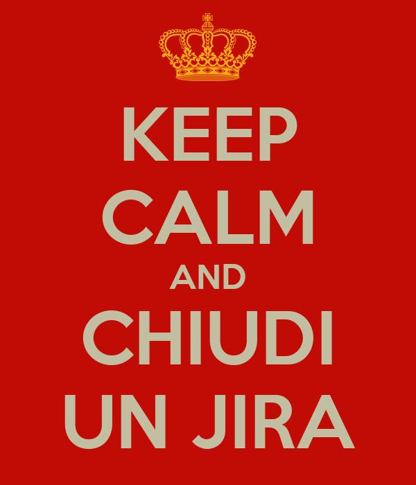 KEEP CALM AND CHIUDI UN JIRA