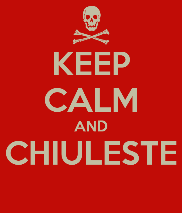 KEEP CALM AND CHIULESTE