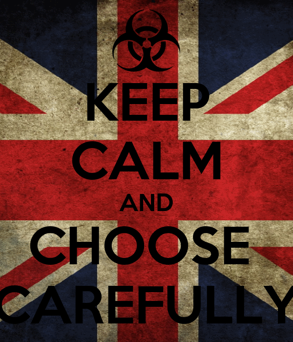 KEEP CALM AND CHOOSE  CAREFULLY