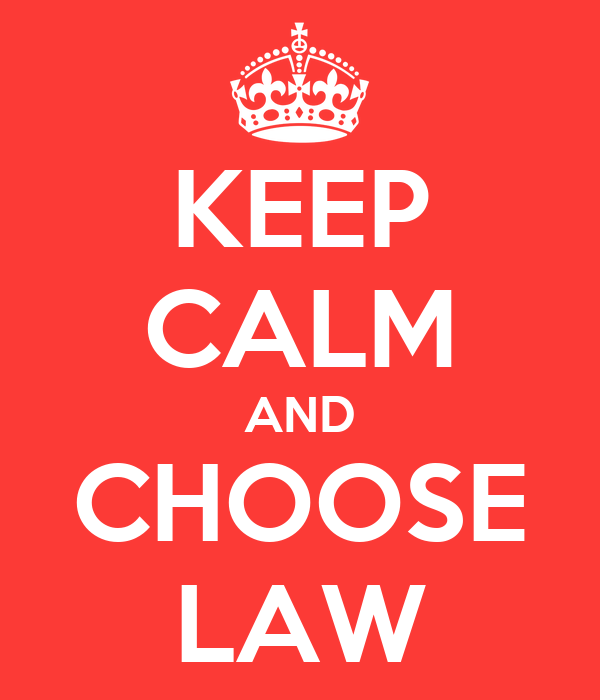 KEEP CALM AND CHOOSE LAW