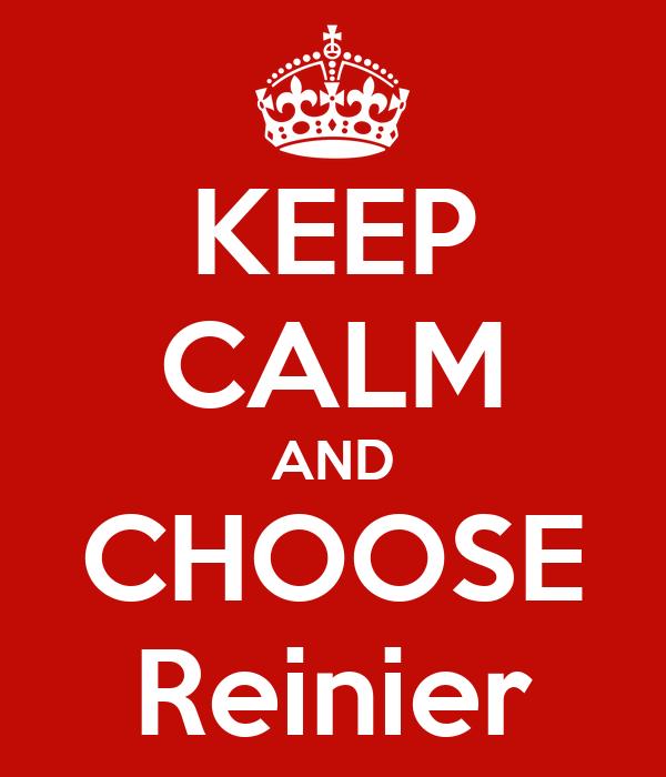 KEEP CALM AND CHOOSE Reinier