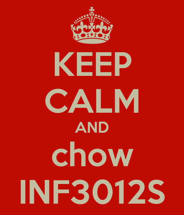 KEEP CALM AND chow INF3012S